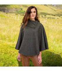 the mucros poncho green one size