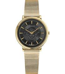 v-circle medusa stainless steel analog bracelet watch