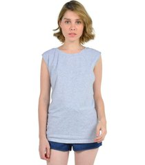 blusa sin mangas de mujer aishop aw163-1102-064 gris