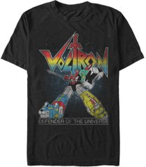 voltron: defender of the universe men's retro rainbow defender of the universe short sleeve t-shirt