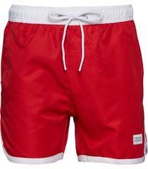 st paul long bermuda shorts badshorts röd frank dandy