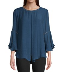 john paul richard pleat-front high-low top
