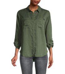 ck jeans women's long sleeve shirt - bonsai - size s