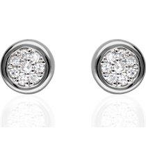 orecchini a lobo in oro bianco con diamanti 0,034 ct per donna