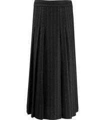 brunello cucinelli pleated high-waisted skirt - grey
