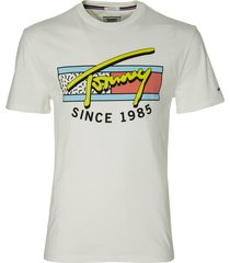 tommy jeans t-shirt - modern fit - wit