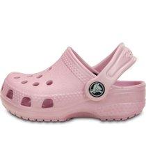 sandália crocs kids littles rosa