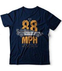 camiseta delorean 88 mph - unissex