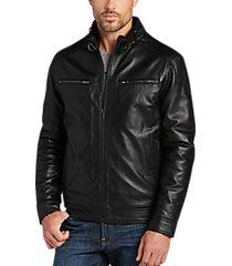 pronto uomo black modern fit moto jacket