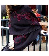alpaca blend shawl, 'cherry blossom' (peru)