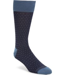 men's nordstrom mens shop dot socks, size one size - blue