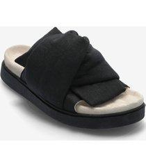 knot lino shoes summer shoes flat sandals svart inuikii