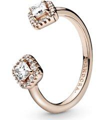 anel aberto pandora rose elegância eterna