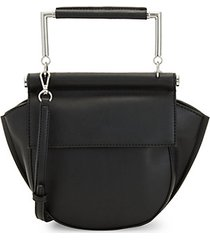 mia half moon faux leather crossbody bag