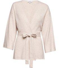 kimono gebreide trui cardigan beige davida cashmere