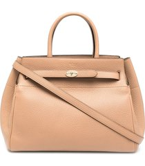mulberry belted bayswater tote bag - neutrals