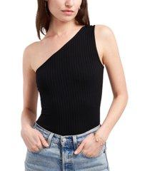 1.state one-shoulder bodysuit