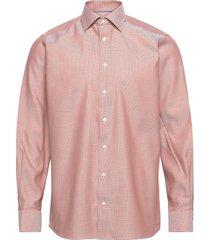 navy diamond weave twill shirt overhemd business oranje eton