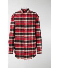 balenciaga checked padded shirt