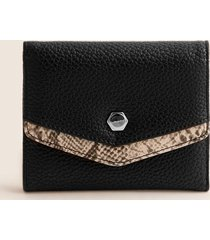 billetera femenina tipo sobre pequeña. negro uni