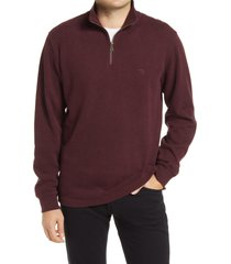 men's rodd & gunn alton ave regular fit pullover sweatshirt, size large - burgundy
