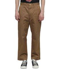 junya watanabe eye x carhartt brown trousers