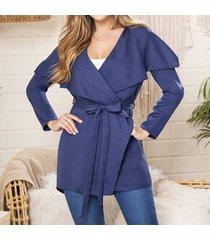 blazer lucia azul para mujer croydon