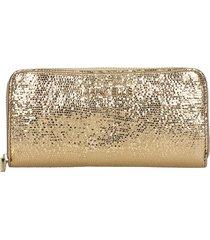 marc ellis jenny wallet in gold leather