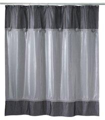 avanti braided medallion colorblocked granite shower curtain bedding