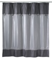 avanti braided medallion colorblocked granite shower curtain bedding