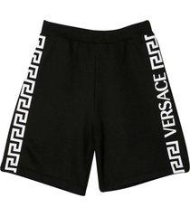 versace black bermuda shorts young