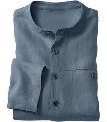 linnen overhemd 1/1-mouw, rookbla s