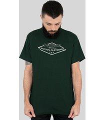 camiseta action clothing vegas verde musgo - verde - algodã£o - dafiti
