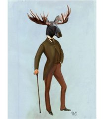 "fab funky moose in suit, full canvas art - 19.5"" x 26"""