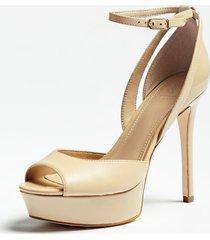 skórzane sandały na obcasie model laurele
