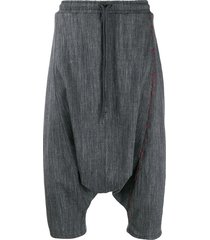 alchemy drop crotch bermuda shorts - grey