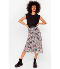womens bud for you floral mini skirt - pink
