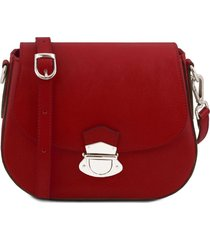 tuscany leather tl141517 tl neoclassic - borsa a tracolla in pelle rosso