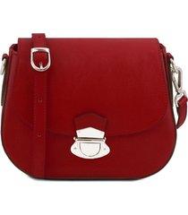 tuscany leather tl141517 tl neoclassic - borsa a tracolla in pelle rosso