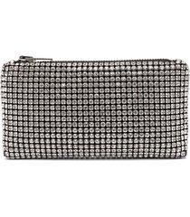 alexander wang rhinestone-embellished clutch bag - white
