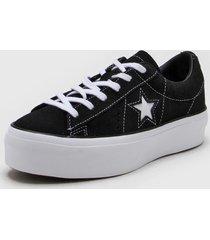 zapatilla negra converse one star platform ox