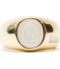 gold plated silver onyx ring g-onx-rng-p