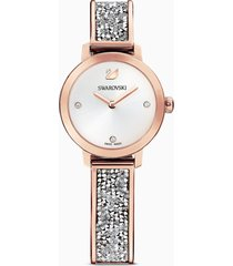 orologio cosmic rock, bracciale di metallo, grigio, pvd oro rosa