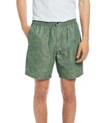 men's rag & bone eaton cotton shorts, size xx-large - green