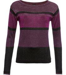 maglione a righe con lurex (viola) - bodyflirt