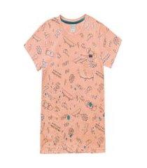 camiseta planeta pano 69401 salmao