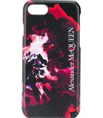 alexander mcqueen abstract print iphone 6/7/8 case - black