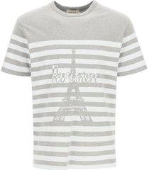 maison kitsuné parisien tower print t-shirt