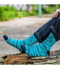 mens zebra pattern vogue casual wild soft comode calze a metro centrale in cotone