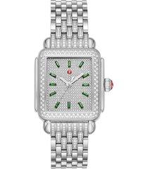 women's michele deco diamond bracelet watch, 34mm